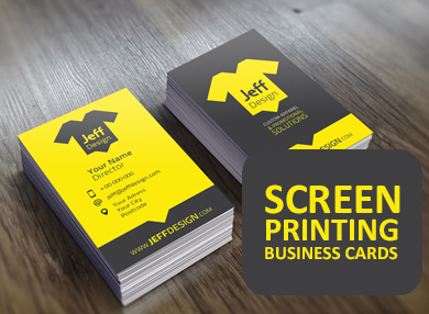 Screen Printing Business Card In